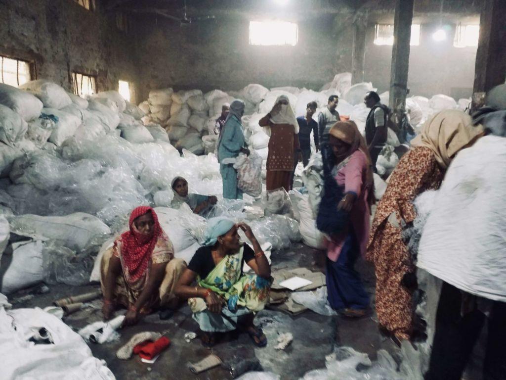 Women in Panipat textile factory, India, 2017
