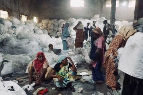 Women in Panipat textile factory, India, 2017