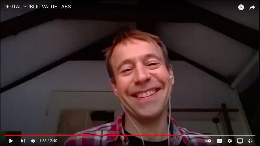 Lars Olesen at an online Public Value Lab